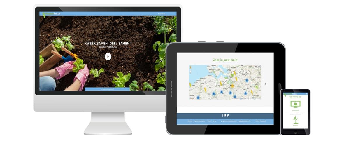 Webdesign portfolio webdolfijn - Moestuinruil - Online webtool