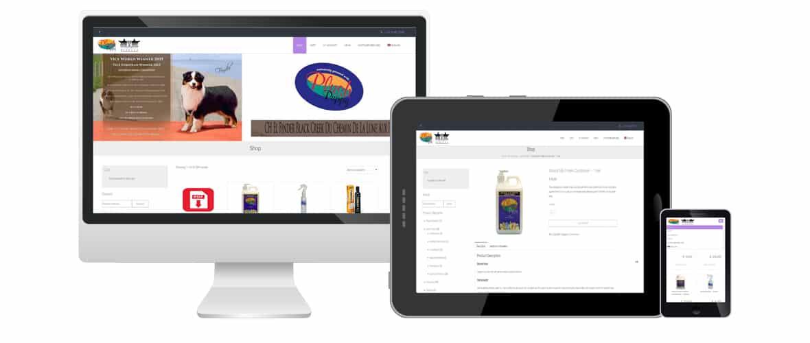 Webdesign portfolio webdolfijn - Plushpuppy Webshop moerbeke