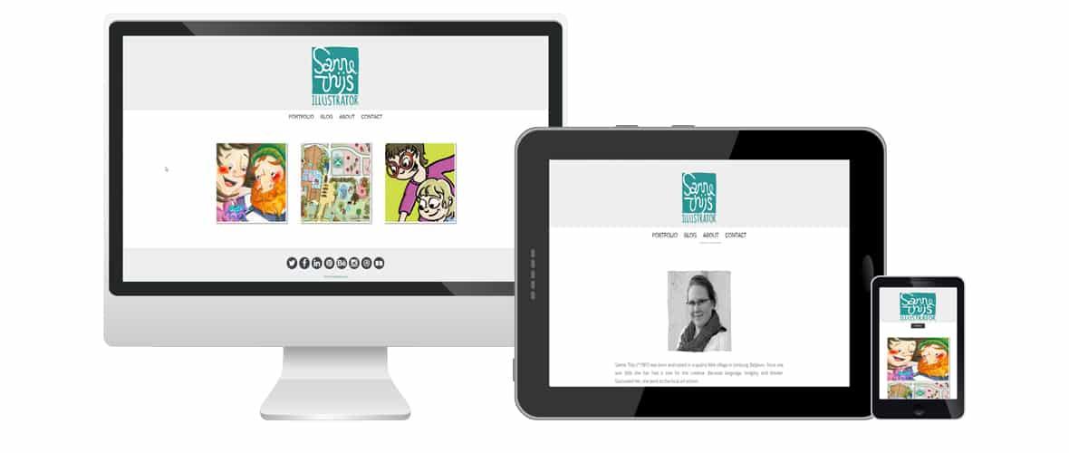 Webdesign portfolio webdolfijn - Sanne Thijs Illustrator gent