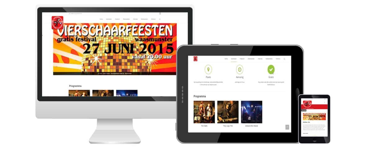 Webdesign portfolio webdolfijn - vierschaarfeesten waasmunster