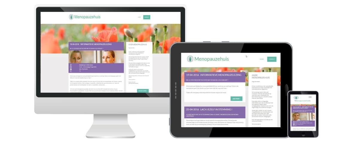 Webdesign webmaatwerk portfolio webdolfijn - menopauzehuis - Deinze